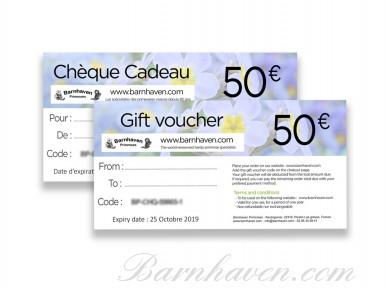 Chèque cadeau plantes 50€